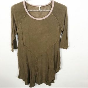 Free People l Brown Weekend Layering Top